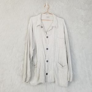 CP Shades Neutral Button Front Linen Blend Jacket